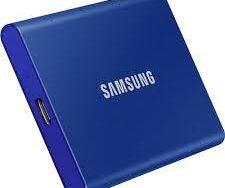 Samsung T7 MU-PC2T0H/AM 2 TB Portable Solid State Drive - Indigo Blue