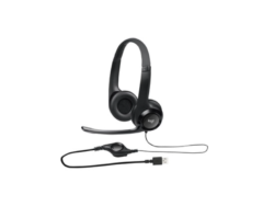 Logitech Padded H390 USB Headset - Wired - Noise Cancelling Microphone